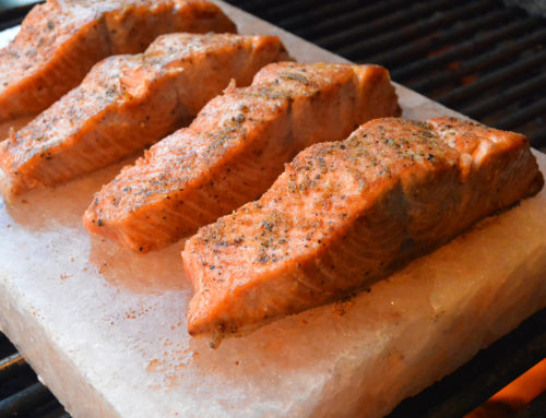 Cooking Salmon On A Salt Block